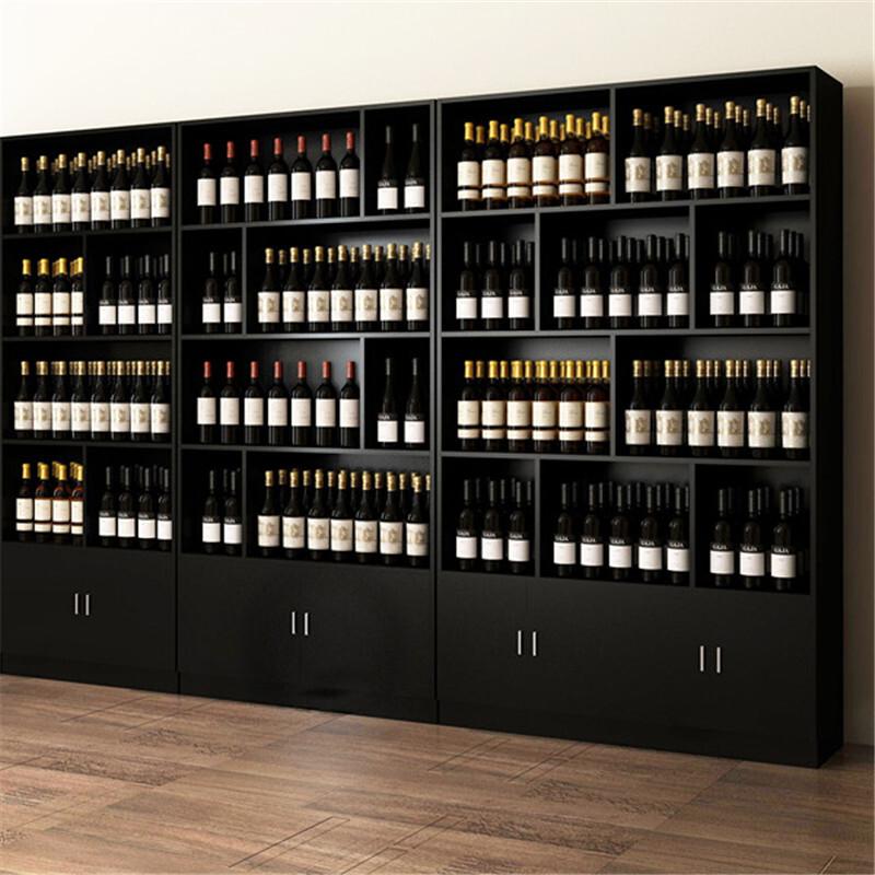 长沙板木结合烟酒展柜陈列柜
